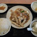 6720540 - D:イカの黒胡椒炒めランチセット