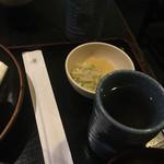 のとや - 料理写真:配膳されて、ふたつめのお茶が!