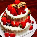 綾南自然菓子 昭和堂 - フレッシュベリーの2段ケーキ 6696円(税込)