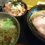 らーめんstyle JUNK STORY - 塩つけ麺&チャシュ丼ミニ♪