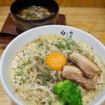 67206688 - とんこつカルボナーラつけ麺…940円