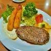 レストラン アーサー - 料理写真:ビーフハンバーグ(1060円) エビフライ2匹(600円)