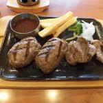 67208177 - 実際に食べた炙り大俵ハンバーグ&カットステーキ