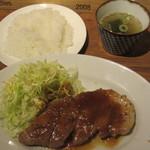 しゃぶしゃぶシャ豚ブリアン - 赤豚トンテキ定食 1290円