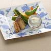 揚げ野菜サラダのチーズクリームソース