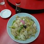 長崎飯店 - 皿うどん軟め(太麺)