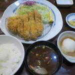 大五 - プラチナポーク ロースとんかつ定食(200g)