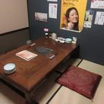 久岡家  - お店の2階にある個室をお借りしての食事会です。  食事は飲み物も入れて5000円で幹事の方が仕切ってくれました。