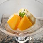 祇園 にし - 夏の太陽が育む甘い恵みに舌鼓『(水物)宮崎マンゴーのムースのプリン』
