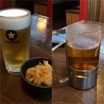 67218502 - 生ビール320円@2/緑茶(ホット)290円