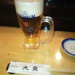 寿司処 大勇 - ビールはプレモル