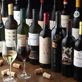 グラスワインが390円~で全8種以上!飲み比べも◎