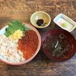 北のグルメ亭 - 蟹いくら丼、1480円です。