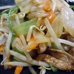 オリジン - 肉野菜炒め接写。