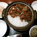 67226292 - 麻婆土鍋定食