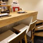 鉄板神社 - ☆カウンター席はこんな感じです(#^.^#)☆