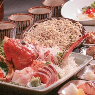 おすすめ◆そば料理+鮮魚コース◆大切な宴席に!