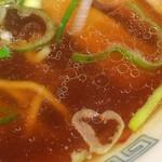67229315 - スープ(正油ラーメン)