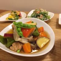 木月キッチン - 大豆ミートと彩り野菜あんかけ