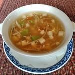 ホテルオークラレストラン新宿 中国料理 桃里 - [料理] 豆腐ときのこのスープ 全景♪w