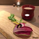 リストランテルーチェ - 直営農園『会津しぜん村』産の有機無農薬栽培の野菜を使ったバーニャカウダ