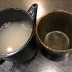 一成 - 蕎麦湯