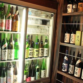 日替わり特選60種以上の日本酒!!焼酎は常備50種!