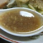ラーメン二郎 - スープは非乳化(2017.3.24)