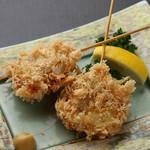 玉葱とヒレ肉の串カツ