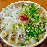 らーめん高野 - 料理写真:もつ塩ラーメン(みじんネギ トッピング)