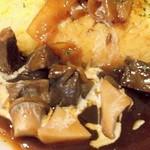 厨 Sawa - 牛ホホ肉のハヤシのオムライスのアップ画像