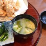お食事処 利 - 味噌汁