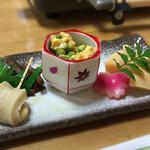 五右衛門茶屋 - ランチの湯豆腐定食の前菜