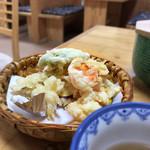 五右衛門茶屋 - 湯豆腐定食の野菜天