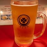東京ミート酒場 - 生ビール(泡なし)