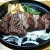 ブッチャーズテーブル - 料理写真:(ランチ) 麦黒牛ステーキ(150g) \1468