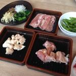 牛角ビュッフェ - 豚タン、ぼんじり、鶏