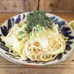 ネマルカフェ - 春キャベツとジャコの胡麻醤油スパゲティ(950円)