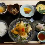おつぼ - スズキ唐揚げ おろしポン酢定食