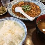 67267571 - 納豆入りの麻婆豆腐定食