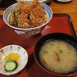 たか嶋 - ランチの天丼セット