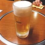 焼肉 鉄輪苑 - 生ビール 中(500円)【平成29年5月19日撮影】