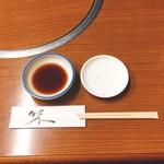 焼肉 鉄輪苑 - タレとレモン汁【平成29年5月19日撮影】