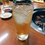焼肉 鉄輪苑 - ウメサワー(380円)【平成29年5月19日撮影】