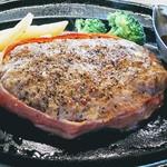 肉の万世 - 粗びきステーキハンバーグ