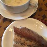 ガニュ・パン - クリームスープ☆★★☆フランスパン