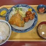 マンプク - アジフライ+唐揚げ