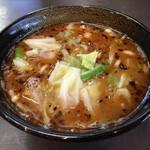 麺人佐藤 - 醤油つけ麺 つけダレ