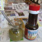 ジュン - 自家製ゆず胡椒とウスターソース