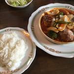 洋食や とんちんかん - ライス、サラダ、スープ、ドリンク付き
